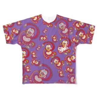 さる Full graphic T-shirts