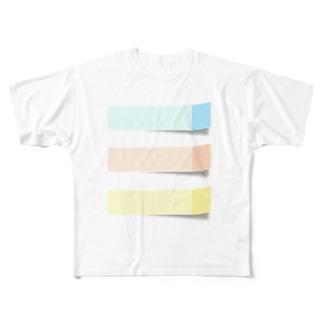 ふせん Full graphic T-shirts