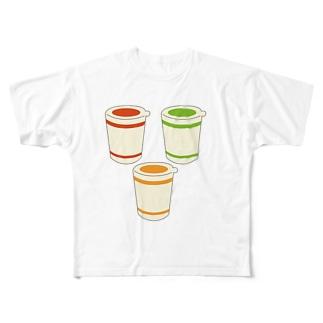 カップ麺 Full graphic T-shirts