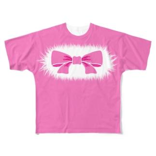デナーグッズ販売所のヘデナシー・リボン・テイル Full graphic T-shirts