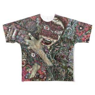 ハンゲキエンジン Full graphic T-shirts