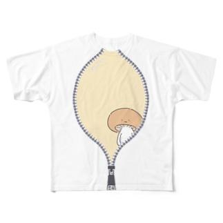 しめじろう01 Full graphic T-shirts