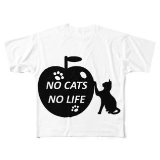 猫好きの猫好きによる猫好きのためのアイテム Full graphic T-shirts