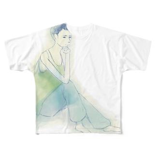 自分の休日 Full graphic T-shirts
