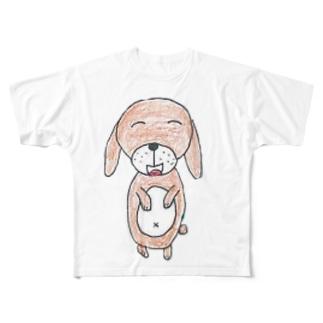 ハンギョルくんのお絵描き Full graphic T-shirts