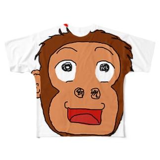 あつPの賢いオランウータン Full graphic T-shirts