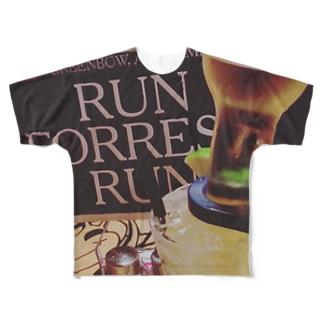 RUN FOREST RUN Full graphic T-shirts