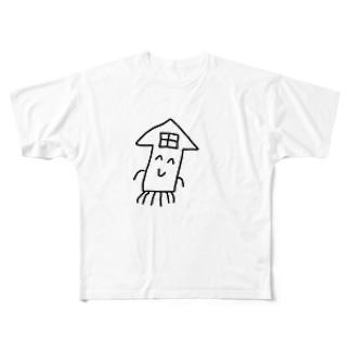 イカハウス Full graphic T-shirts