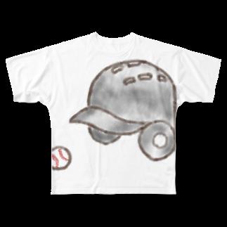 kyonophotoのヘルメットとボール Full graphic T-shirts