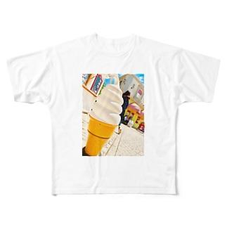 アイスクリーム Full graphic T-shirts