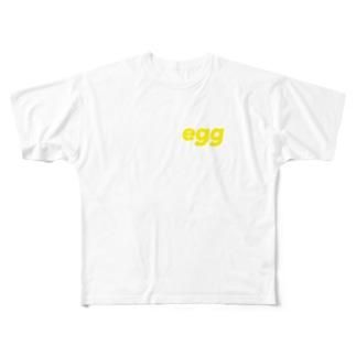 たまご Full graphic T-shirts