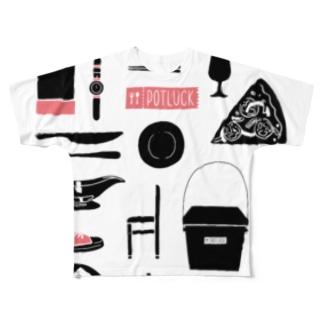 POTLUCK Graffiti Pink Full graphic T-shirts