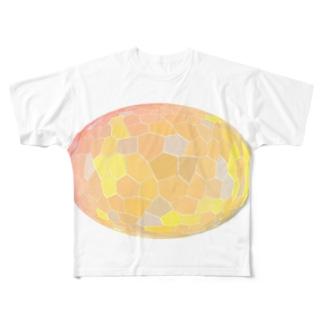 水草のオレンジ玉 Full graphic T-shirts