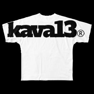 aubergのkava13thANNIVERSARY Full graphic T-shirts