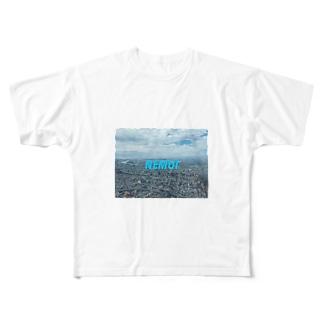 zzzzzzkm038の時に眠たい Full graphic T-shirts