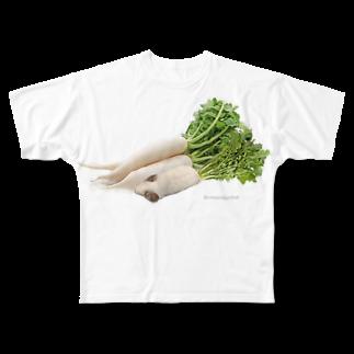 chinchillamfmfのチンチラ大根 Full graphic T-shirts