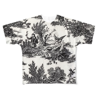 トワルドジュイ Toile de Jouy Full graphic T-shirts