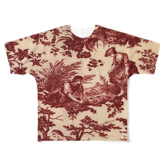 J. Jeffery Print Galleryのトワルドジュイ Toile de Jouy Full graphic T-shirts