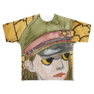ノブ オハラのグッズ屋のマリーゴールドの時代 Full graphic T-shirts