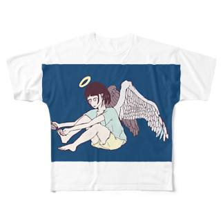 櫛谷久紗/KusyaKUSHIYAの爪切り天使 Full graphic T-shirts