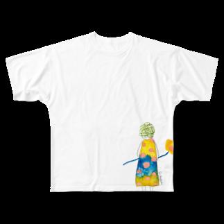 eri kaifuchiのキャベツヘアーのおんなのこ Full graphic T-shirts