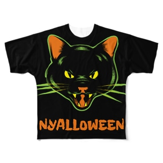 ニャロウィン Full graphic T-shirts