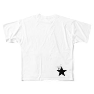 ブラックスター 005(Blackstar 005)with パキポディウム(Pachypodium) Full graphic T-shirts