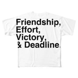 週刊少年漫画誌の4大原則 Full graphic T-shirts