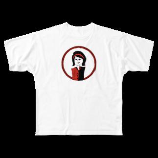 04_169_aのきゃわ Full graphic T-shirts