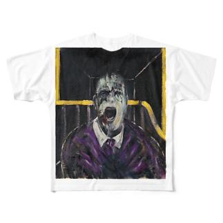 叫ぶ教皇の頭部のための習作 Full graphic T-shirts