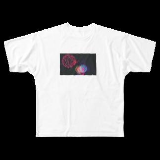 ぷぐのブレブレ花火 Full graphic T-shirts