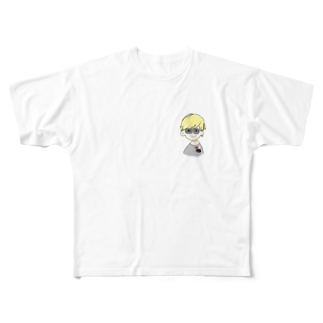 ___Ru____の金髪BOY Full graphic T-shirts