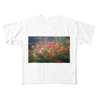 チューリップ Full graphic T-shirts