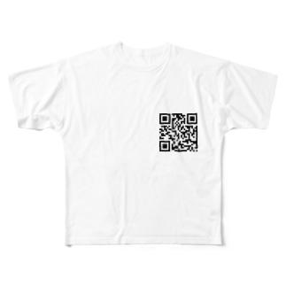 QRコード Full graphic T-shirts