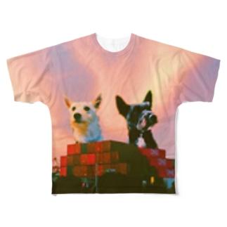 進撃のシバウザー Full graphic T-shirts