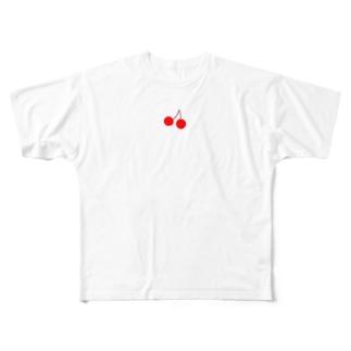 さくらんぼ Full graphic T-shirts