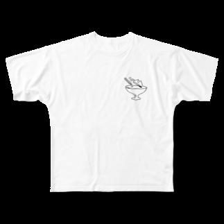なるの青い光 Full graphic T-shirts