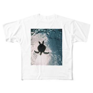 ウミガメ Full graphic T-shirts