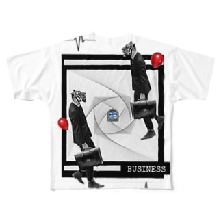 Collage//BUSINESS. Full graphic T-shirts