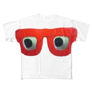 赤メガネ Full graphic T-shirts