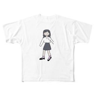 呑気な少女 Full graphic T-shirts