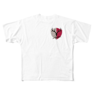 鹿島アントラーズのエンブレム Full graphic T-shirts