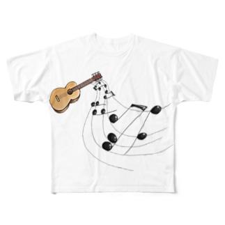 奏でるギター フルカラー② Full graphic T-shirts