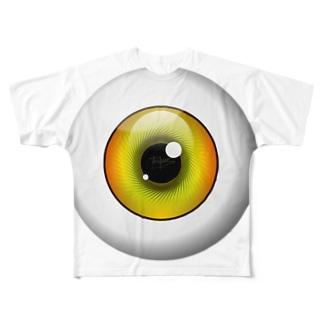 PB-EYEBALL イエロー Full graphic T-shirts
