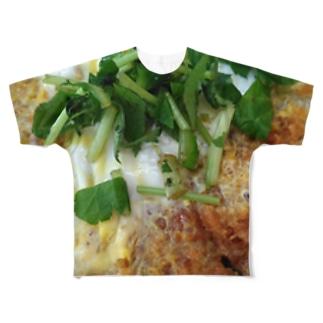 カツ丼 Full graphic T-shirts