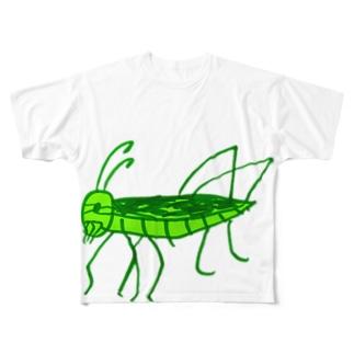 トノサマバッタ Full graphic T-shirts