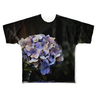 【花途夢】紫陽花(紫) Full graphic T-shirts
