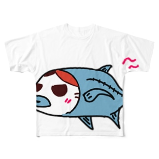 みけきちあじ Full graphic T-shirts