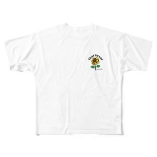 オリジナルロゴ(Himawari) Full graphic T-shirts