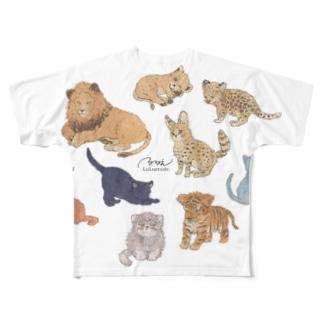 ネコカ集合 Full graphic T-shirts